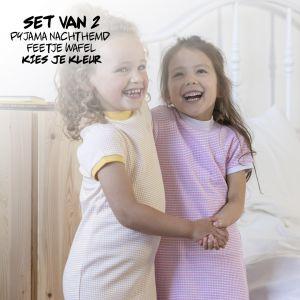 SET   2 Feetje Pyjama's Zomer Nachthemd   Kies je Kleur   Maat 56 t/m 116