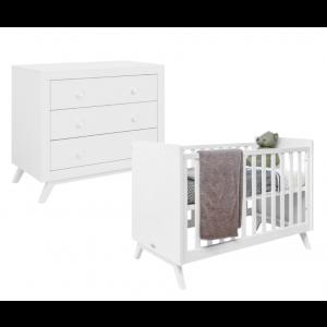 Babykamer Fiore Anne (ledikant + commode)