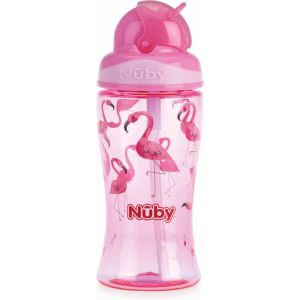 Antilekbeker Nuby Flip-It Tritan 360 ml Pink 3 jr.+