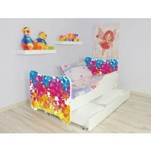 Kleuterbed Top Beds Happy 160x80 Bloemen Incl. Matras + Bedlade