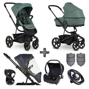 Kinderwagen Easywalker Harvey³ Forest Green + Autostoel + Accessoires