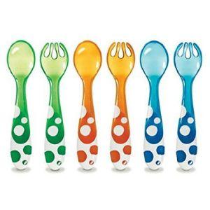 Munchkin 011454 Multi Cloured Forks & Spoons 6st.