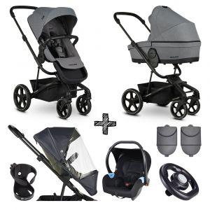 Kinderwagen Easywalker Harvey³ Fossil Grey + Autostoel + Accessoires