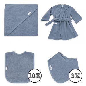 Textielset Funnies 15-delig Grey/Blue