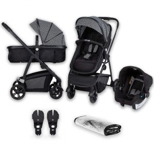 Kinderwagen Hello 3-in-1 Safety 1st Geo Metric Zwart Grijs