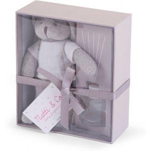 Geurverspreider Childhome Box incl. Knuffel Grijs