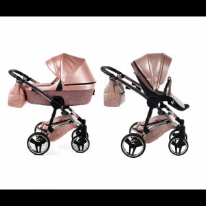 Kinderwagen Junama 3-in-1 Glitter Pink incl Autostoel