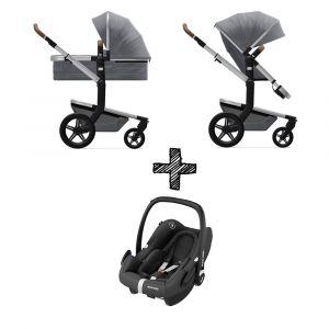 Kinderwagen Joolz Day+ Gorgeous Grey met Autostoel