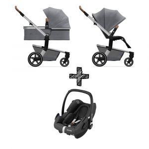 Kinderwagen Joolz Hub+ Gorgeous Grey met Autostoel