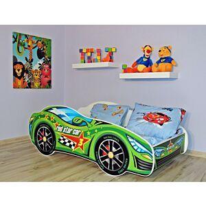 Kleuterbed Top Beds Racing Car 160x80 Green Car Incl. Matras