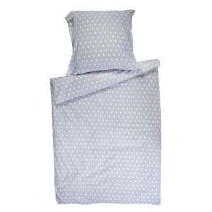 Top Beds Dekbed en hoofdkussen + Dekbedovertrek Grey Stars 140x100 cm