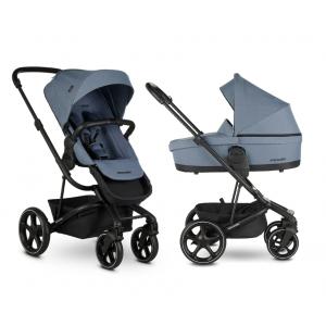 Easywalker Harvey³ Steel Blue & Autostoel & Voetenzak & Hoogte-Adapter