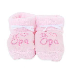 Babyslofjes | Ik ♥ opa | Roze
