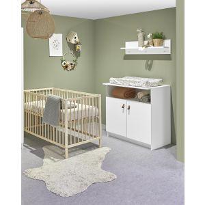 Babykamer Jasper (Ledikant Naturel + Commode)