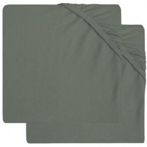 Hoeslaken Ledikant Jollein Jersey 60x120 Ash Green 2-Pack 2511-507-00095