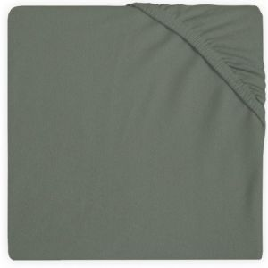 Hoeslaken Ledikant Jollein Jersey 60x120 Ash Green 511-507-00095
