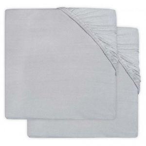 Hoeslaken Ledikant Jollein Jersey 60x120 Soft Grey 2-Pack 2511-507-00078