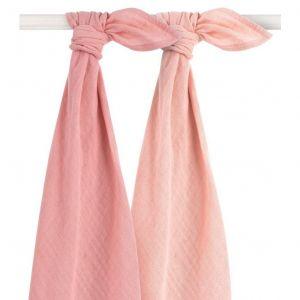 Multidoek Jollein Hydrofiel 2st Bamboe Pale Pink
