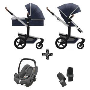Kinderwagen Joolz Day+ Classic Blue inlc. Autostoel & Adapters