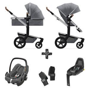 Kinderwagen Joolz Day+ Gorgeous Grey incl. Autostoel & Base & Adapters