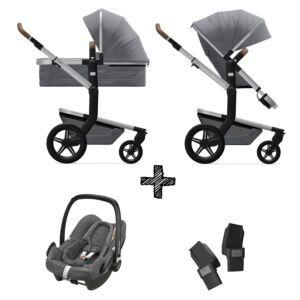 Kinderwagen Joolz Day+ Gorgeous Grey incl. Autostoel & Adapters