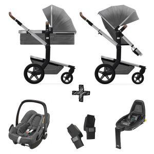 Kinderwagen Joolz Day+ Radiant Grey incl. Autostoel & Base & Adapters