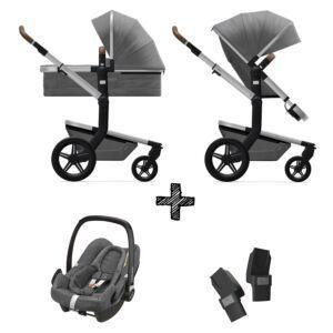 Kinderwagen Joolz Day+ Radiant Grey incl. Autostoel & Adapters