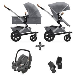 Joolz Geo2 Gorgeous Grey incl. Autostoel & Adapters