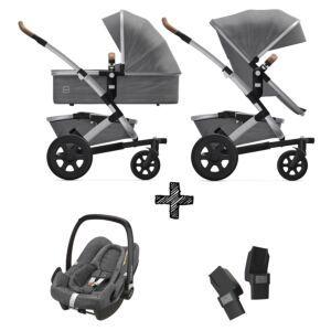 Joolz Geo2 Radiant Grey incl. Autostoel & Adapters