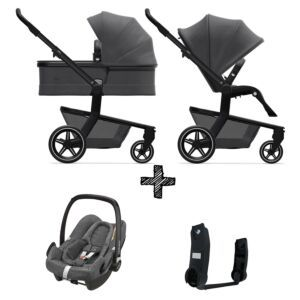 Kinderwagen Joolz Hub+ Awesome Anthracite incl. Autostoel & Adapters