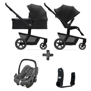 Kinderwagen Joolz Hub+ Brilliant Black incl. Autostoel & Adapters
