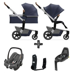 Kinderwagen Joolz Hub+ Classic Blue incl. Autostoel & Base & Adapters