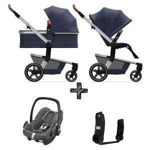 Kinderwagen Joolz Hub+ Classic Blue incl. Autostoel & Adapters