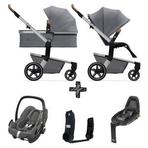 Kinderwagen Joolz Hub+ Gorgeous Grey inlc. Autostoel & Base & Adapters
