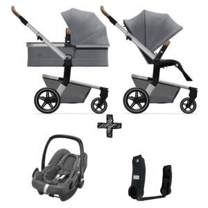Kinderwagen Joolz Hub+ Gorgeous Grey inlc. Autostoel & Adapters