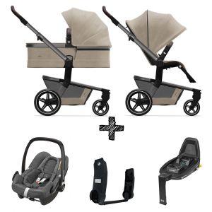 Kinderwagen Joolz Hub+ Timeless Taupe incl. Autostoel & Base & Adapters
