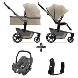 Kinderwagen Joolz Hub+ Timeless Taupe incl. Autostoel & Adapters