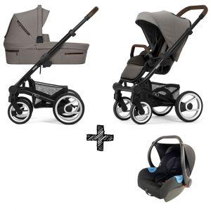 Kinderwagen Mutsy Nio 2020 - Journey Taupe Grey Met Autostoel