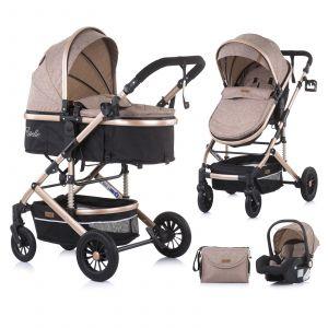 Kinderwagen Chipolino Estelle Latte 3-in-1 + Autostoel