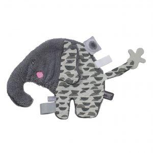 Knuffeldoekje Snoozebaby Elly Elephant Frost Grey