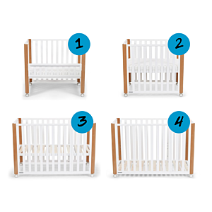 Bed 4-in-1 Kinderkraft Koya   Co-sleeper/Box/Wieg/Ledikant