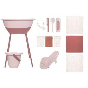 Bad- en verzorgingsset Luma Hydrofiel Blossom Pink/Sunset Shapes