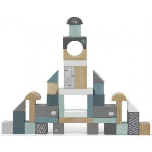 Houten Blokken Label-Label 50 pcs Green