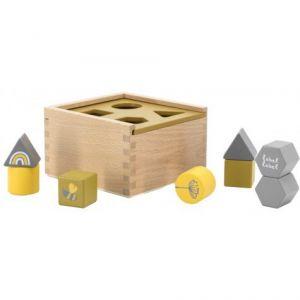 Vormenstoof Label-Label Shape Sorting Box Ochre