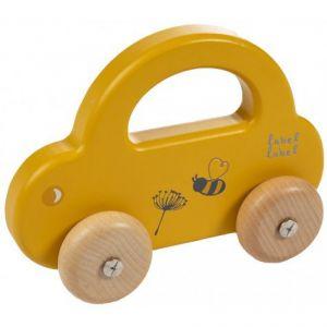 Houten Auto Label-Label Little Car Ochre