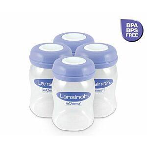 Lansinoh Moedermelk Bewaarflesjes 4x160 ml