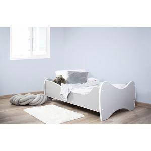 Peuterbed Top Beds Midi Color 70x140 Pastel Lichtgrijs Incl. Matras
