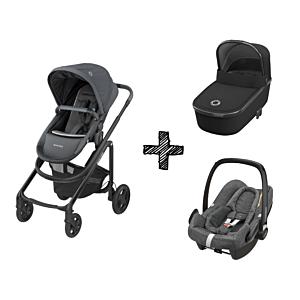 Kinderwagen 2in1 Maxi-Cosi Lila CP Essential Graphite + Maxi-Cosi Rock Sparkling Grey