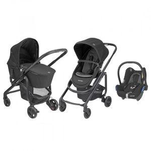 Kinderwagen 3-in-1 Maxi-Cosi Lila SP Essential Black + Autostoel Maxi-Cosi CabrioFix Essential Black