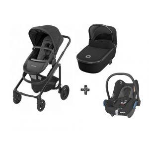 Kinderwagen 3-in-1 Maxi-Cosi Lila CP Essential Black + Autostoel Maxi-Cosi CabrioFix Essential Black